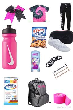 cheer workouts Need an Idea of what should be in ur Cheer bag? Cheer Games, Cheer Practice Outfits, Cheer Outfits, Lazy Day Outfits, Sporty Outfits, Cute Cheer Bows, Cheer Mom, Cheer Stuff, Cheer Backpack