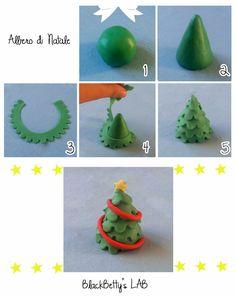 Buondì buondì !  Passo veloce veloce a lasciarvi , come promesso, il 2° mini tutorial per realizzare un albero di natale in pasta di zucch...
