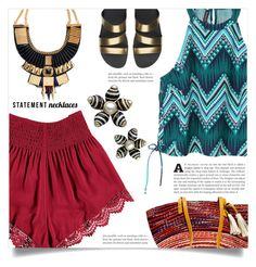 """""""Collared! Statement Necklaces"""" by dolly-valkyrie ❤ liked on Polyvore featuring Forever 21, FitFlop and statementnecklaces"""