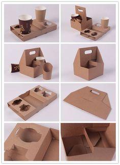 Takeaway Packaging, Food Packaging Design, Coffee Packaging, Box Packaging, Deco Restaurant, Restaurant Design, Cafe Design, Food Design, Packaging Biscuits