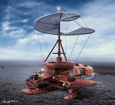 Leonardo Da Vincis Stempunk helicopter - Worth1000 Contests