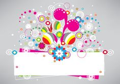 Abstract banner with colorful elements. Free vector graphic for download in Ai and A4 jpg preview