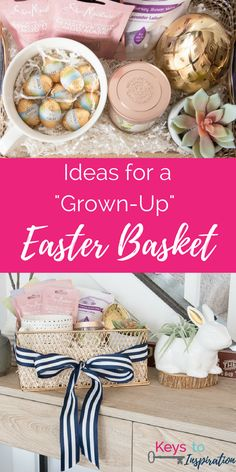 Tips inspiration for creating diy easter basket ideas for young great ideas for a grown up easter basket easter ideas for adults this basket negle Choice Image