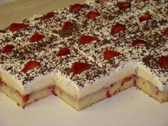 Yummy Treats, Delicious Desserts, Sweet Treats, Dessert Recipes, Cake Recipes, Czech Recipes, Ethnic Recipes, Party Food And Drinks, Sweet Recipes