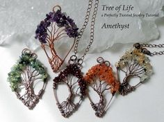 Wire Wrap Tutorial, Tree of Life Pendant, Learn how to wire wrap, DIY Wire Wrap Tree tutorial, How to wire wrap, Perfectly Twisted Jewelry by PerfectlyTwisted on Etsy https://www.etsy.com/listing/251511863/wire-wrap-tutorial-tree-of-life-pendant