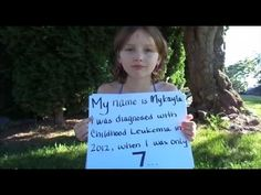 Message to the World from Brave Mykayla - MORE: http://www.hempforfuture.com/2014/09/23/no-more-lumbar-punctures-girl-cures-aggressive-leukemia-with-cannabis/