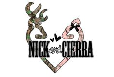 change it to Aaron and Sierra Browning Logo, Couple Stuff, House Decorations, Wedding Couples, Love Heart, Save The Date, Dates, Camo, Hunting