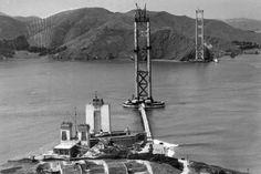 Crazy good photos of the construction of the Golden Gate Bridge 1933-1937