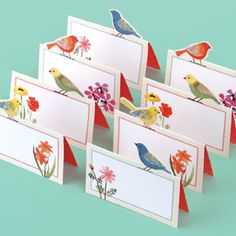 Avian Friends Place Cards with illustrations by Geninne Zlatkis. $9.00