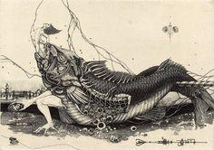 Shin Taga  Shin Taga is a self taught artist, and one of the very finest draftsman.He was born in 1946 in Hokkaido.   http://tagashin.com/English/English.htm