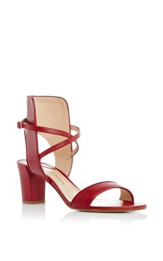 Red Leather Lexington Sandals by PAUL ANDREW Now Available on Moda Operandi