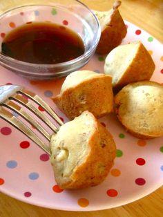 Wholesome Chow Blog: Mini Gluten Free Banana Maple Pancake Bites