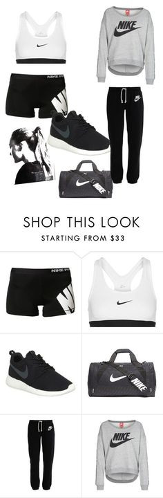 """Un peu de sport?"" by rosemie ❤ liked on Polyvore featuring NIKE, women's clothing, women, female, woman, misses, juniors, adidas, sport and nike"