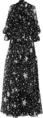 ShopStyle: Dolce & Gabbana Star-print silk-chiffon gown