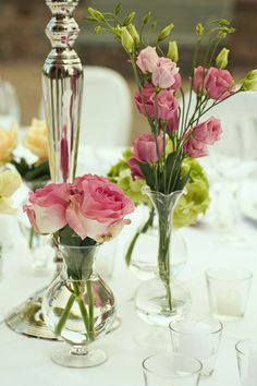 Flower Composition on the dinner table