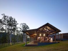 Built by Shaun Lockyer Architects in , Australia with date 2014. Images by Scott Burrows Photography. The Hinterland House takes its inspiration from the stunning ridge lines surrounding the site as well as the vertical...