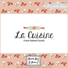 Premade Baking Logo Design & Blog Header - Web, Blog, Marketing, Print - Limited Edition! Perfect For Baker, Cooking Class, Food Blog