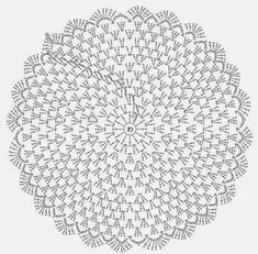 """doily pattern """"Needles and Brushes: Sousplat crochet"""", """"Crochet diagram only"""", """"Captured with Lightshot"""" Mandala Au Crochet, Crochet Circles, Crochet Doily Patterns, Crochet Diagram, Crochet Round, Crochet Chart, Crochet Home, Thread Crochet, Free Crochet"""
