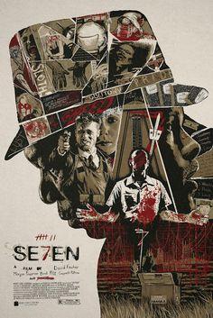 The Geeky Nerfherder: #CoolArt: 'Se7en' by Christopher Cox (Changethetho...