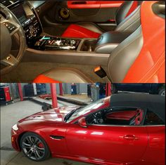 - 2013 Jaguar XK RS convertible red on red getting service at CRS Oakville - Come see why we are Oakville's premium service facility. 2013 Jaguar, Jaguar Xk, Hamilton, Convertible, Cars, Red, Autos, Vehicles, Automobile