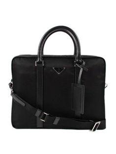 72944b0cfa09 N2W6R Prada Nylon and Leather Duffel Bag