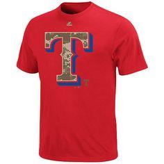 Texas Rangers Stars and Stripes Camo T-Shirt
