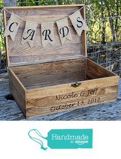 Rustic Wooden Card Box - Rustic Wedding Card Box - Rustic Wedding Decor - Large Wedding Card Holder - Card Box - Wedding Card Box from Country Barn Babe http://www.amazon.com/dp/B017P9Y21G/ref=hnd_sw_r_pi_dp_h2HZwb1C18M0B #handmadeatamazon