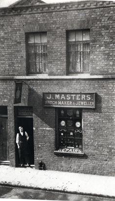 Mr J Masters, watchmaker & jeweller, 26 St Leonard St, London, c. 1900