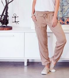 "The most versatile pant you'll have in your wardrobe! We love wearing them ruched up with heels and a cami for a night out with the girls! ""The Utility Pant"" by #BirdKeepers, available at birdsnest.com.au #birdsnestonline"