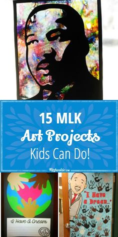 15 MLK Art Projects Kids Can Do! via 15 MLK Art Projects Kids Can Do! Easy MLK Art Projects activities with lots of pictures so you can make them at home or at school! Winter Art Projects, Easy Art Projects, Projects For Kids, Kids Crafts, January Art, February, Jr Art, Art Activities For Kids, Preschool Activities