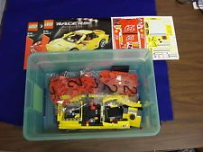 (J) LEGO Racers #8143. Red and Yellow Ferraris. 1:17. With books.