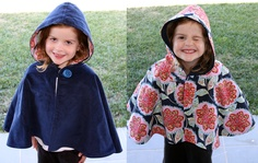 reversible cape in navy  available in sizes 1-8