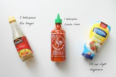 Bang Bang Sauce - try it on chicken meatballs, grilled salmon, burgers, shrimp (duh) and chicken and it's just soooooo good.
