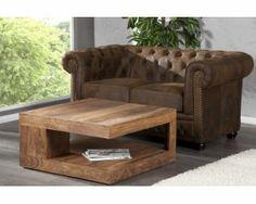 Drewniany stolik kawowy 90x90x40 cm  - i18819