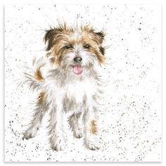 Terrier Puppy Greeting Card - Wrendale Designs Country Set Dog by Hannah Dale Animal Paintings, Animal Drawings, Painting & Drawing, Watercolor Paintings, Watercolours, Drawing Board, Wrendale Designs, Border Terrier, Watercolor Animals