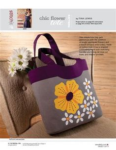 Chic Flower Tote Bag - Sew Daily