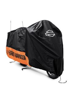 We've got you covered. |  Harley-Davidson Indoor/Outdoor Motorcycle Cover-Orange/Black with Graphics