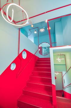 Image 2 of 20 from gallery of Musicality School / Manuel Collado Arpia. Photograph by Manuel Collado Open House Madrid, Interior Architecture, Gallery, School, Fun, Retail, Store, Baby, Red Floor