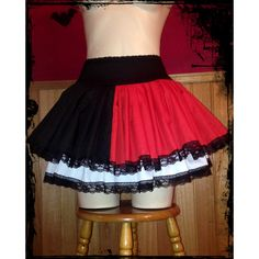 Harley Quinn Cosplay Skirt Size Small to Medium ($37) ❤ liked on Polyvore featuring skirts, black and women's clothing