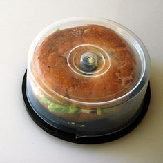 perfect bagel container - awesome food hacks