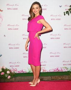Miranda Kerr at a public appearance in Sydney, May 2014, to discuss her Royal Albert teaware range