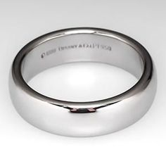 Mens Tiffany Lucida Wedding Band Ring 6mm Wide Platinum, Retail $2150