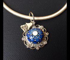 Pendelketten - Mandala Schmuck Anhänger Geschenk blau - ein Designerstück von CreateAndCherish bei DaWanda