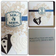 Mr. & Mrs., Glückwunschkarte, Hochzeit, Stampin' Up!