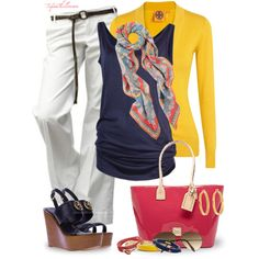 """Primary Colors"" by tufootballmom on Polyvore"