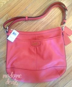 #Giveaway #FashionistaEvents persimmon colored Coach Purse (MFSR $368) from Madamedeals! http://madamedeals.com/?p=330946