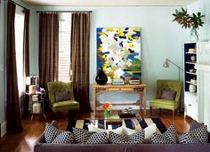 Contemporary meets traditional in this budget-friendly Dilworth living room makeover