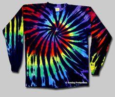 6d76e730 Swirl Tie Dye Long Sleeve T-Shirt - Stained Glass   Sundog: Custom t