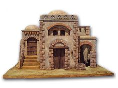 Clay Houses, Ceramic Houses, Miniature Crafts, Miniature Houses, Christmas In Italy, Desert Art, Christmas Nativity, Fairy Houses, Inspired Homes