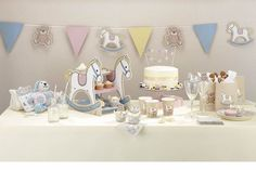 BABY SHOWER ROCK A BYE BABY TABLEWARE DECORATIONS CHRISTENING NAMING PARTY